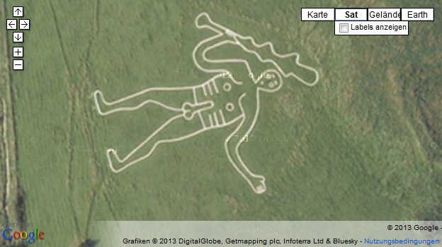 The Cerne Abbas Giant in England